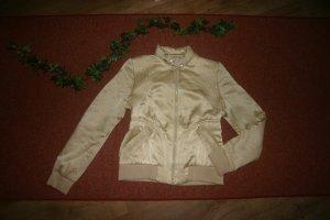 Goldene Luxus Jacke aus 100% Seide Gr.36/S Glänzend Gold Warehouse w.Leder-Jacke