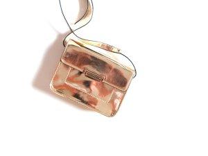 Goldene Mango Tasche Umhängetasche metallic gold clutch