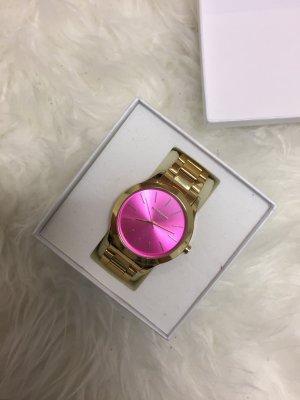 Goldene Manguun Uhr pink