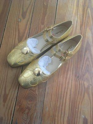 Clarks Scarpa Mary Jane oro Pelle