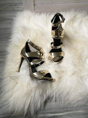 Goldene metallic High Heels