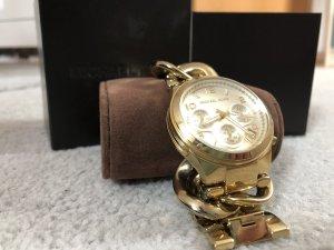 Goldene Michael Kors Uhr mit geflochtenem Armband
