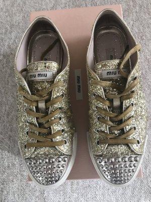 Goldene Miu Miu Sneaker Gr. 36,5