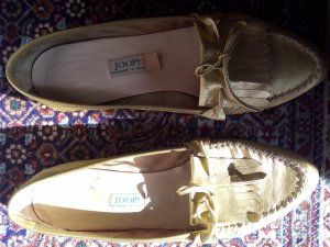 Goldene Mokassins Slippers JOOP! Luxus Gr. 39 COS Dutti Liebeskind