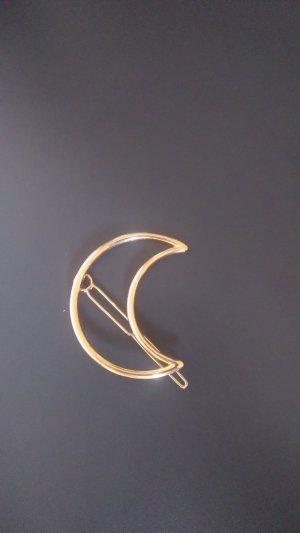 Goldene Mond-Haarspange