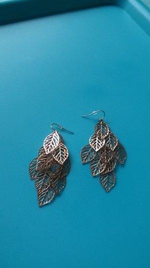 Goldene Ohrringe Blätter,Modeschmuck