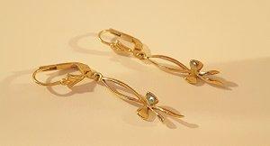 Goldene Ohrringe in 333 er Gold