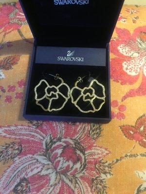Goldene Ohrringe von Swarovski