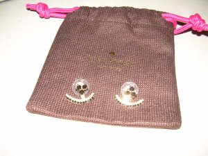 goldene Ohrstecker von Kate Spade mit schwarzen Steinen Ohrringe