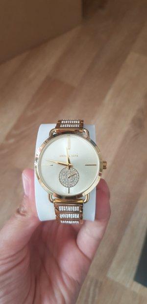 goldene Original Michael Kors Uhr neu