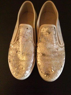 Goldene Palietten Sneaker
