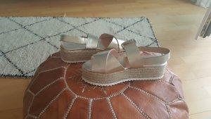 Zara Platform High-Heeled Sandal gold-colored