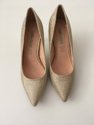 Goldene Pumps High Heels Glitzer