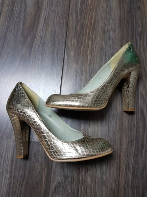 Goldene Pumps High Heels Gr. 40