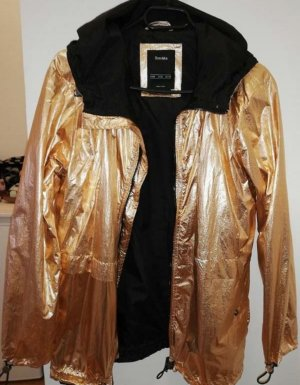 Goldene Regenjacke in der Größe S/36