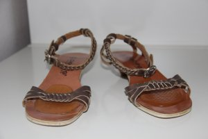 Pieces Strapped Sandals sand brown