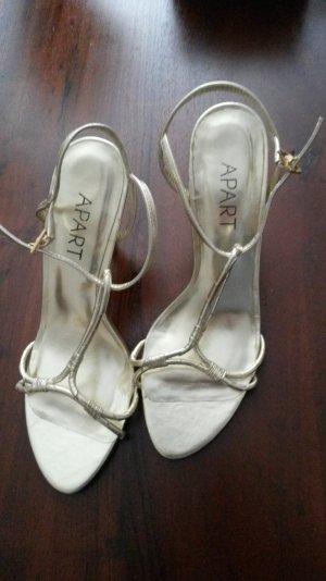 Goldene Riemchen-Sandalen von Apart