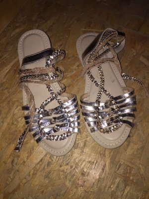 Roman Sandals gold-colored leather