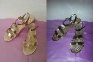 Goldene Sandalen Made in Italy  Gr 39 Neu