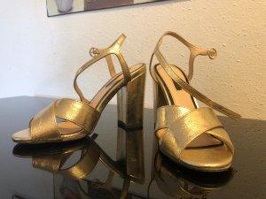 goldene Sandalette Gr. 38