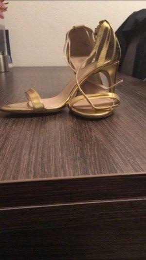 Goldene Sandalette von Asos NEU