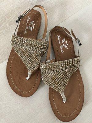 Fritzi aus preußen Flip-Flop Sandals gold-colored
