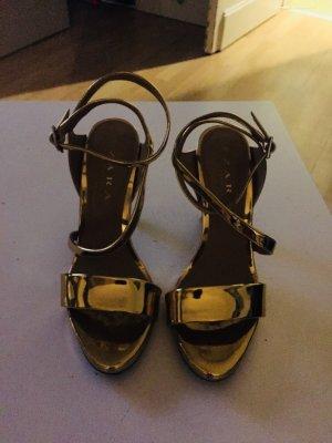 Zara High Heel Sandal gold-colored
