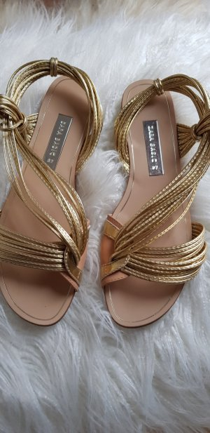 Zara Basic Dianette sandalen goud Imitatie leer