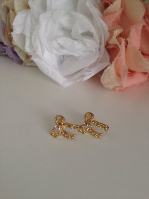 Goldene Schleifchen Ohrringe