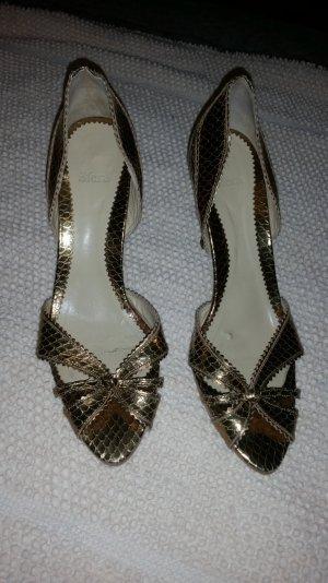 Goldene Schuhe 2 odet 3 mal getragen