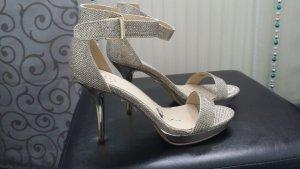 goldene SMH High Heels