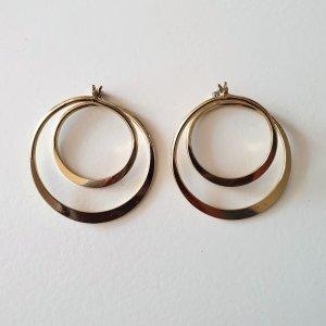 goldene spiral-förmige Creolen von Topshop