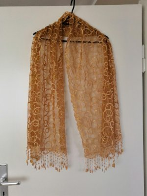 Silk Scarf gold-colored