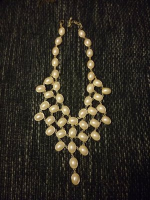 H&M Statement Necklace white-gold-colored