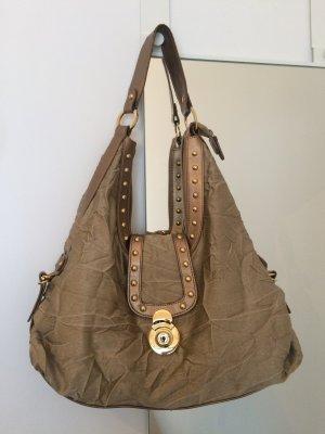 Goldene Tasche mit Nieten und Crashoptik von Luxusmarke BRACCIALINI Hobo Bag