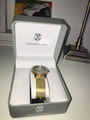 Christian Lacroix Orologio con cinturino di metallo oro