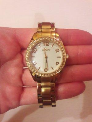 s.Oliver Horloge met metalen riempje goud