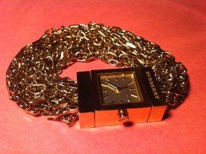Goldene Uhr von Burberry