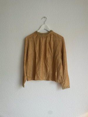 Goldene Vintage Bluse