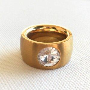 Goldener Edelstahl Ring Gr. 19