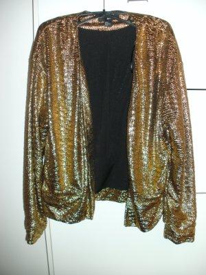 Goldener Glamour Blazer