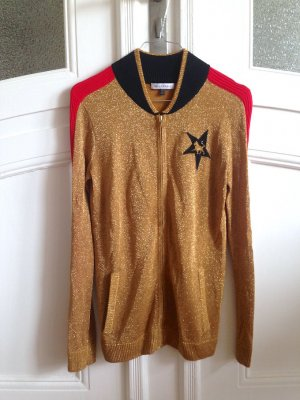 BELLA Cardigan in maglia bronzo-oro Rayon