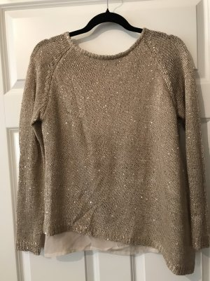 Sweewe Pullover all'uncinetto oro