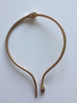 Goldener Halsreif in Schlangenform