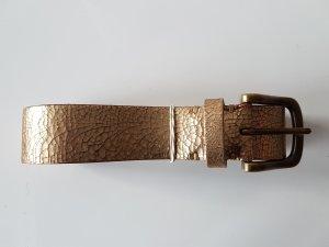 Goldener Ledergürtel von UNIQLO Länge 90 - neu ohne Etikett