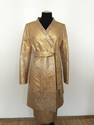 Escada Frock Coat sand brown silk