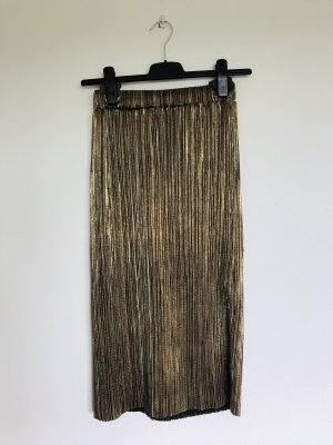 Pleated Skirt gold-colored-black