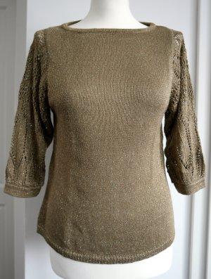 Goldener Pullover von Mango Gr. S