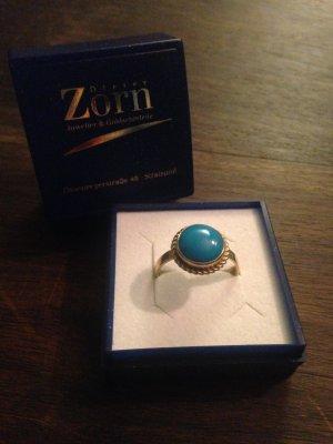 Goldener Ring mit Türkis