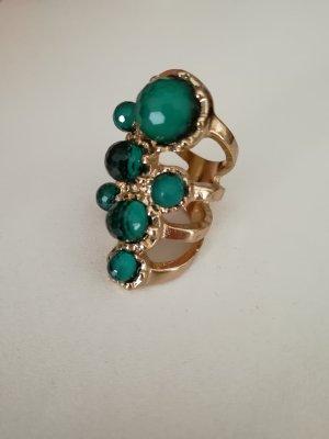 Goldener Smaragt Statemet Ring S Asos